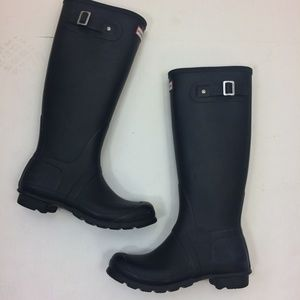 Hunter Rain Boots matte Black 7 Original Tall